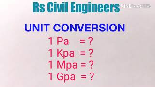 How to convert unit (TAMIL)- Pascal to N/mm^2