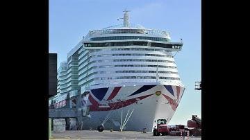 1080p P&O IONA Das neueste Schiff von P&O Cruise in Bremerhaven 24.03.2020