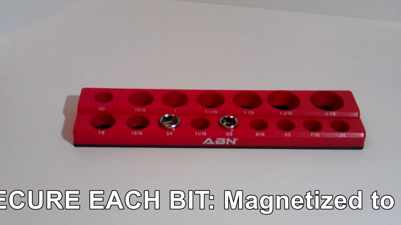 """ABN Magnetic SAE 1//4/"""" Inch Drive Hex Bit Plastic Organizer Tray Holder"""