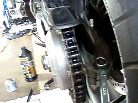 Single Side Swing Arm Chain Adjustment Vfr Honda Youtube