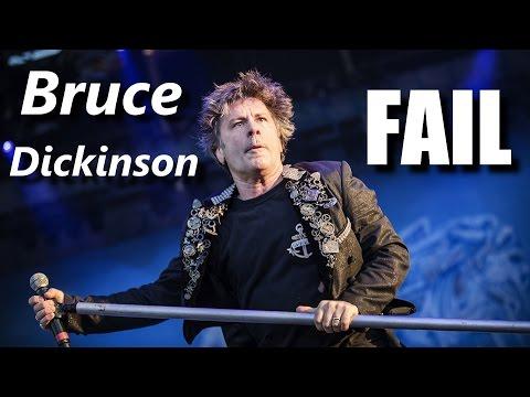 Bruce Dickinson FAIL  RockStar FAIL