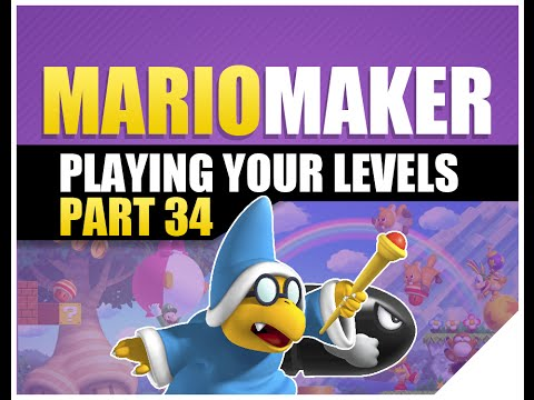 Super Mario Maker: Playing Viewer Levels | Easy Levels Though! | Part 34 (Mario Bros Games)