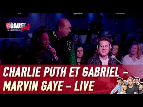 Charlie Puth et Gabriel (Kids United) - Marvin Gaye - Live - C'Cauet sur NRJ