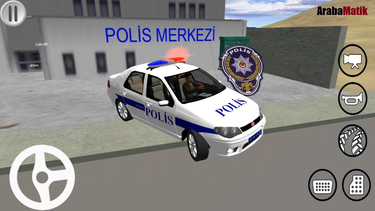 Fiat Linea Turk Polis Arabasi Surme Oyunu Polis Simulator Oyunu