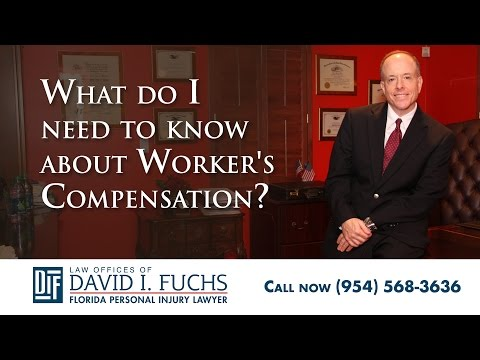 Fort Lauderdale Injury Lawyer Discusses Worker's Compensation