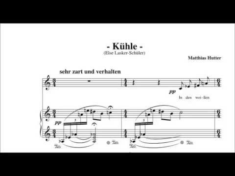 Vier Lieder nach Gedichten von Else Lasker-Schüler op. 9, I. Kühle