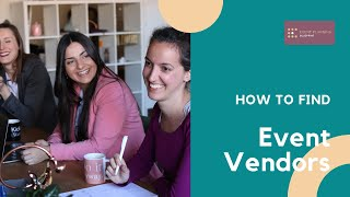 How to Find Event Vendors