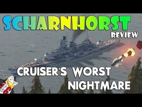 World of Warships - Scharnhorst Review - Cruiser's Worst Nightmare