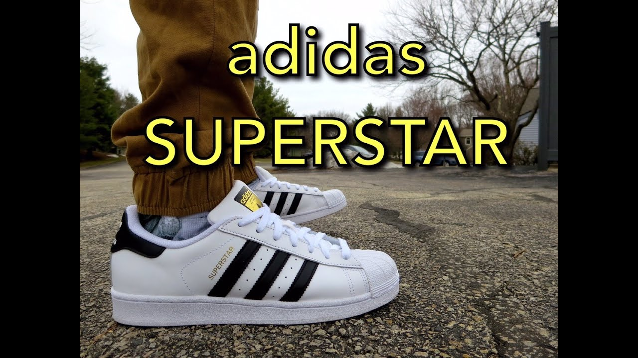evolución pronunciación Gracia  Adidas Superstars ON FEET! @adidasoriginals - YouTube