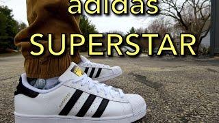 Adidas Superstars ON FEET! @adidasoriginals