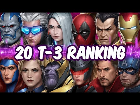 All T-3 Ranking - 20 T-3 Characters Rank - MARVEL Future Fight