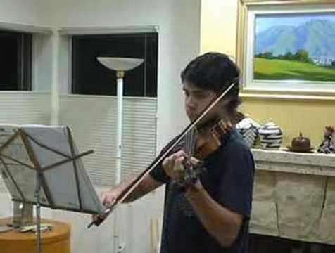 Enrico playing a Bourree by J.S. Bach