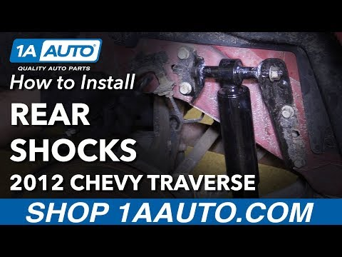 How To Replace Rear Shocks 09 17 Chevy Traverse YouTube