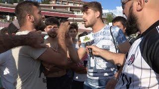 Kilyos'da Suriyeli ile Tartışma