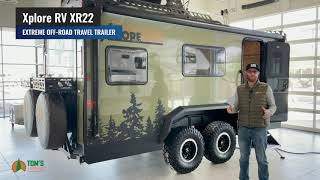 Xplore RV XR22 by Imperial Outdoors Toy Hauler With Roof Top Tent