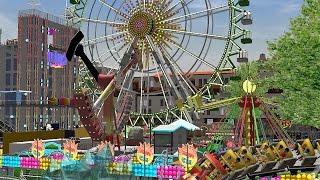 RCT3 Pre-Summer Funfair Pt.2 (5th Zyned movie)