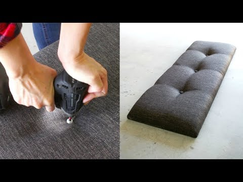CRAZY EASY How To Make A Tufted Headboard, Bench Or Furniture | NO SEW!