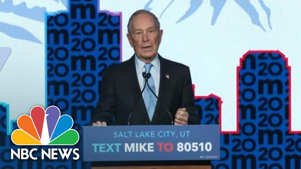 Mike Bloomberg Speaks After Nevada Debate: Donald Trump Was 'The Real Winner' | NBC News