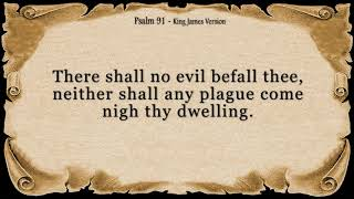 Psalm 91 - My Refuge and My Fortress (With words - KJV) | God Our Protector | Prayer for Protection
