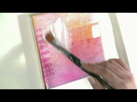 Malen lernen mit Acryl: Thema Collage und Transfertechnik auf Leinwand