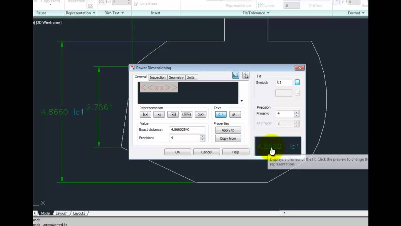 how to change dimensions stats in autocad