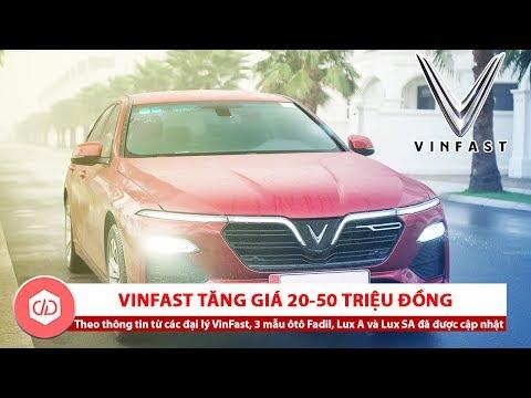 VinFast Tăng Giá Xe Fadil, Lux A2.0 Và Lux SA2.0