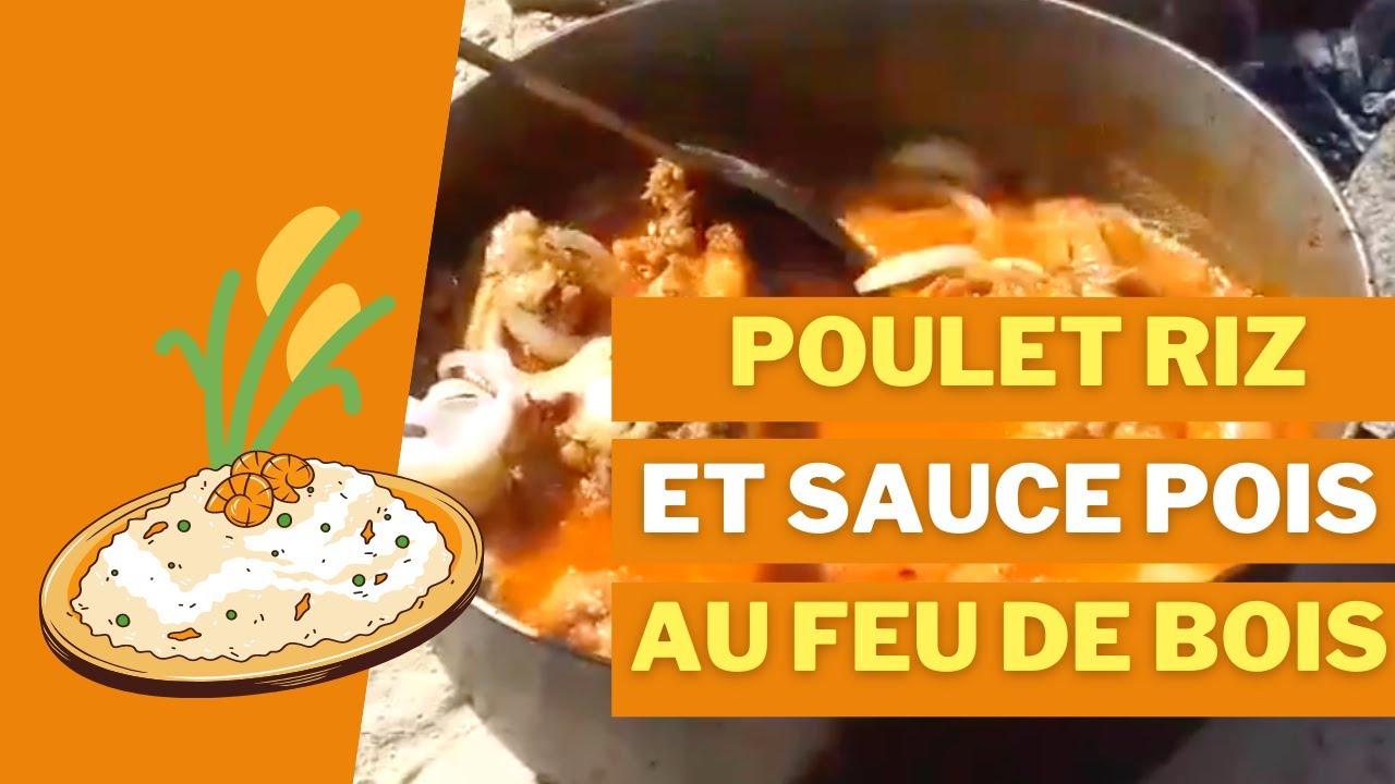 Poulet Frit Et Riz Sauce Pois Au Feu De Bois Recette Haitienne