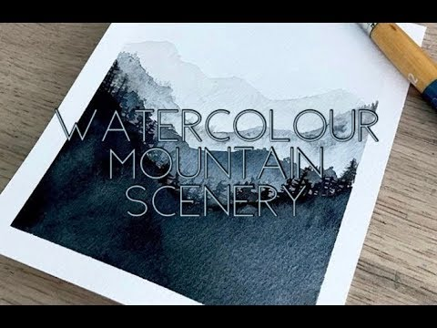 Watercolour Mountain Scenery Tutorial