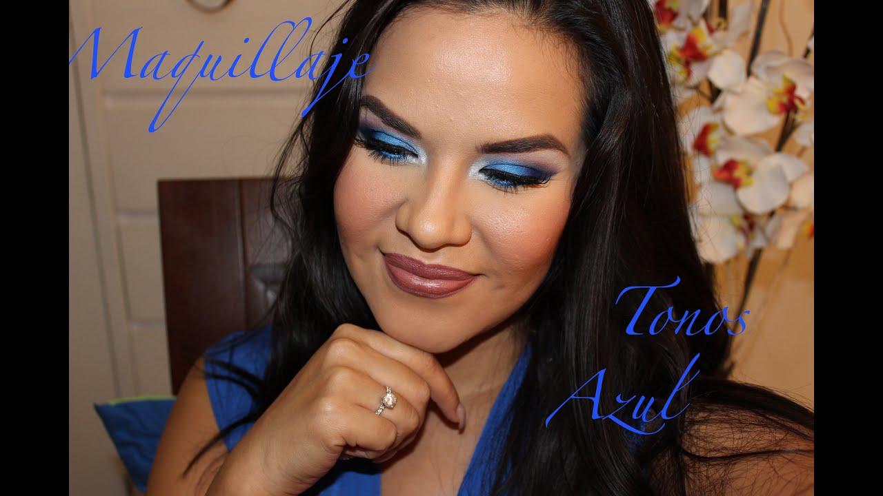 Maquillaje tonos azules blues bissu wetn wild youtube - Tonos azules ...