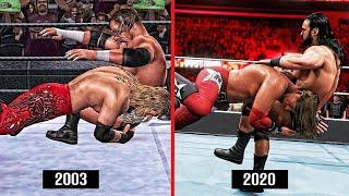 WWE 2K20 The Evolution Of Edge Spear! (WWE Games)