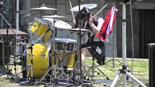 Download ガールズロックバンド革命ドラムJunnaイン丸亀お城祭り2016① Mp3