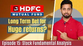 HDFC AMC: A long term bet for great return? | HDFC AMC Fundamental Analysis