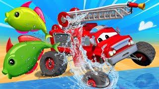 Monster Town - มอนสเตอร์ ทาวน์ แย่แล้ว แม็กซ์ติดอยู่ในป่า!  🚚 คาร์ซิตี้ - การ์ตูนรถบรรทุกสำหรับเด็ก