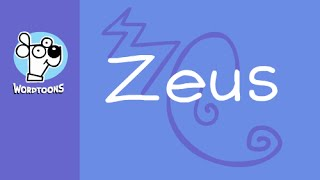 Draw A Cartoon Zeus  From His Name -  Wordtoon Zeus