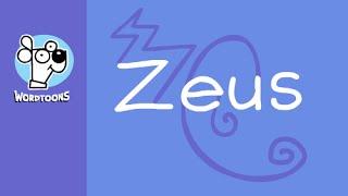 Draw A Cartoon Zeus  From His Name -  Wordtoon Zeus