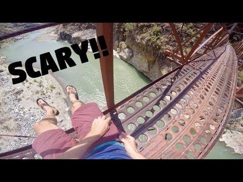 BIG SCARY MOUNTAIN BRIDGE IN THE PHILIPPINES! (Half Filipino Friend Says Goodbye)