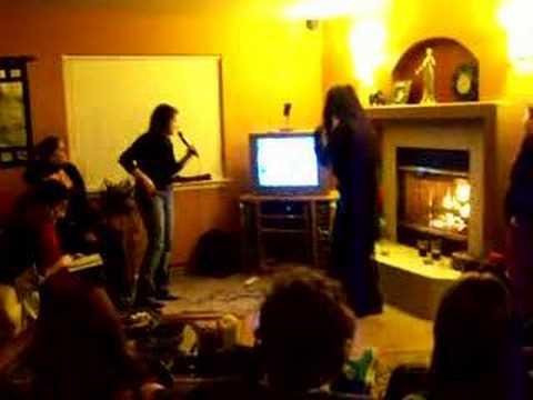 Sooz and the gang singing karaoke at Tribal Fusion Fair