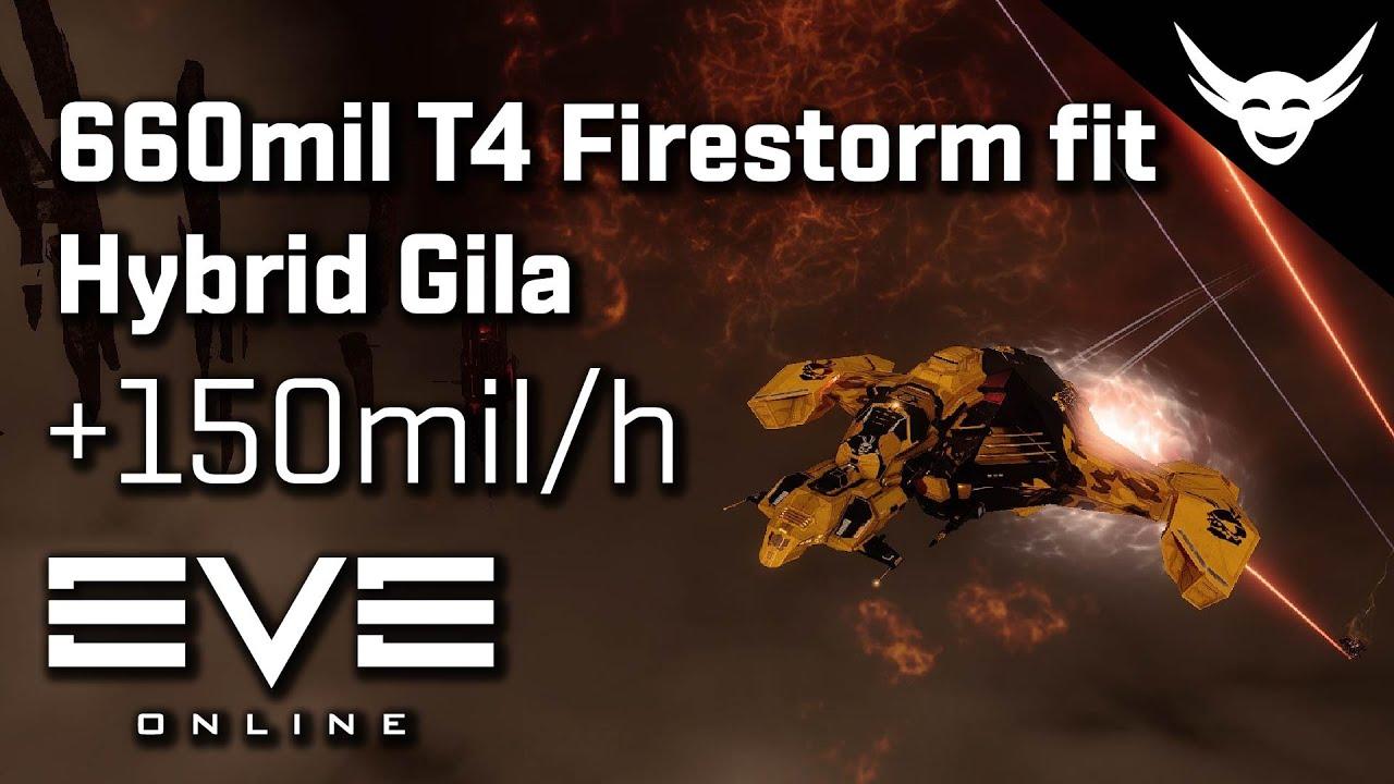EVE Online - T4 Abyss Firestorm 660mil Gila (+150mil/h)
