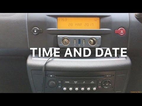 Citroën C4 Time and Date Set