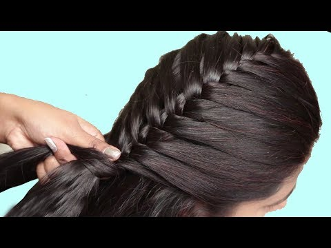 Dutch Braid hairstyle for party/function/college | hairstyle tutorials 2019 | Trendy hairstyles