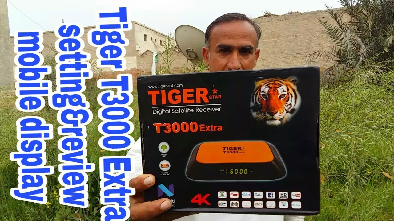 Tiger T3000 Extra || connecting with mobile complete setting - Video