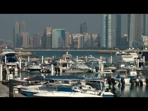 United Arab Emirates - Abu Dhabi downtown skyscrapers & marina mall