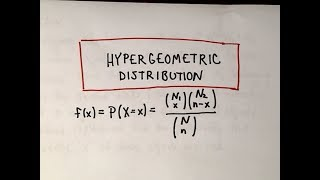 The Hypergeometric Distributiion - A Basic Example