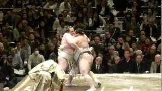 20130113 大相撲初場所初日 把瑠都vs豊響 把瑠都10勝で大関返り咲きな...