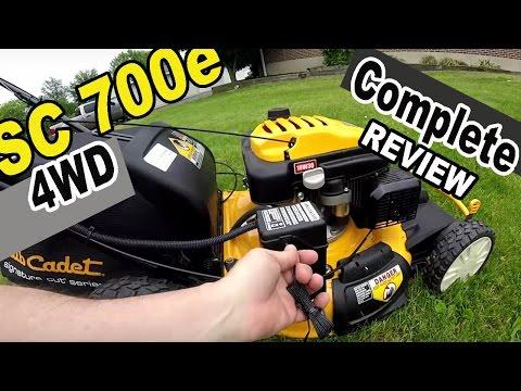 Cub Cadet self propelled lawn mower review - SC 700e
