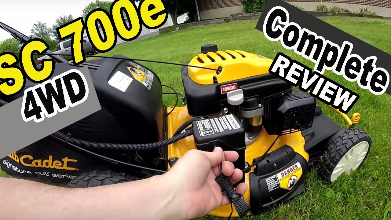 Cub Cadet Self Propelled Lawn Mower Review Sc 700e