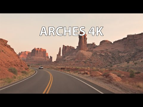 Arches National Park 4K - Scenic Drive - Utah USA