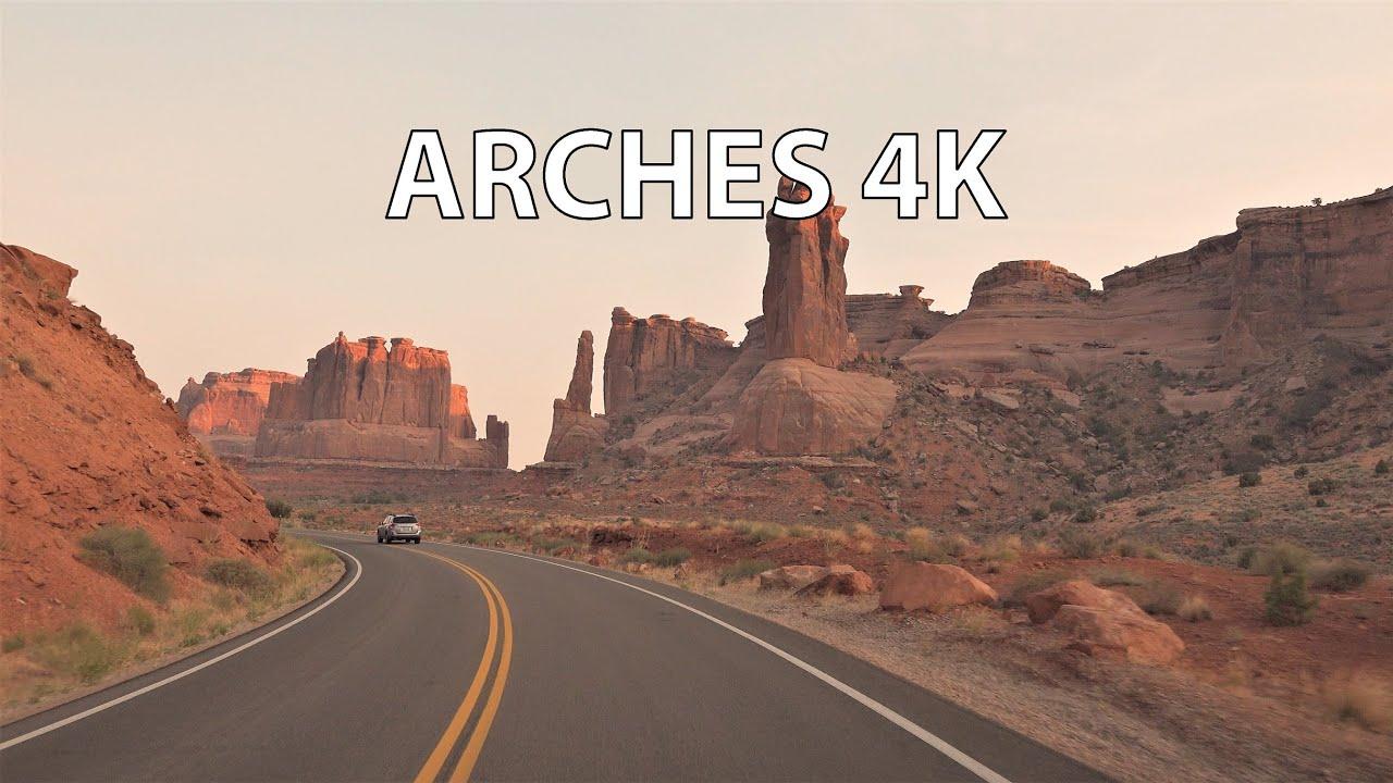 Arches National Park 4K - Scenic Drive - Utah USA