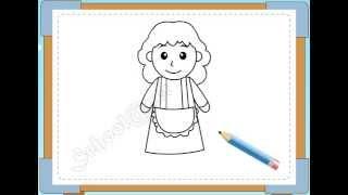 BÉ HỌA SĨ - Thực hành tập vẽ 108: Vẽ mẹ