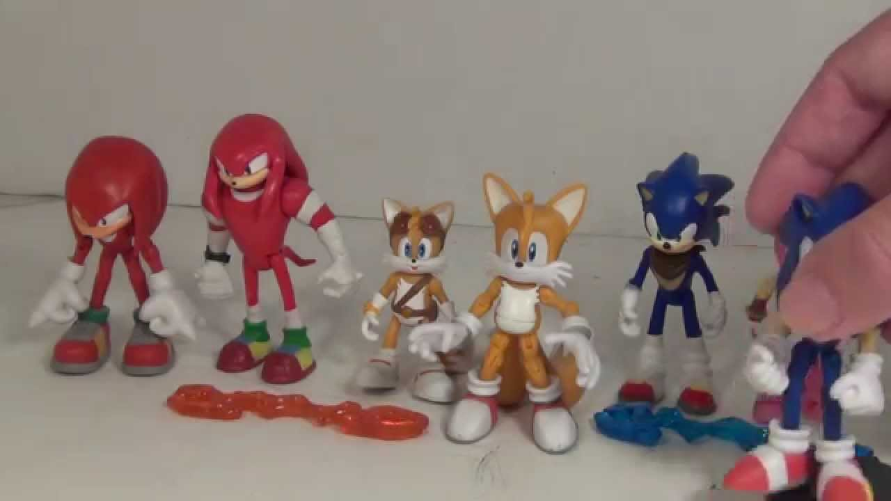 Tomy Sonic Boom 2 Packs Sonic With Amy And Knuckles With Tails Youtube